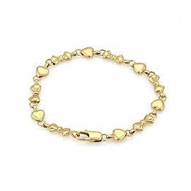 Tiffany & Co. 18k Yellow Gold Hearts & Bow Link Bracelet