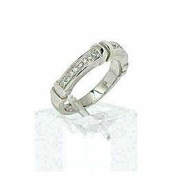 Di Modolo 18k White Gold & Diamonds 4mm Wide Band Ring Size 7