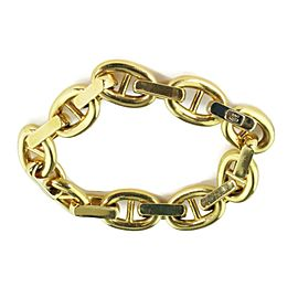 Estate 18k Yellow Gold Marina Chain Link Bracelet