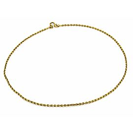 "Solid 24k Gold Small Oval Link Chain 17"" Long"