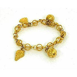 21k Gold Dangling Charms Bracelet