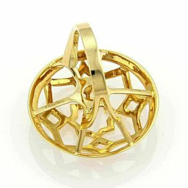 Tiffany & Co. Picasso Zellige 18k Yellow Gold Large Open Round Ring Size 5.5