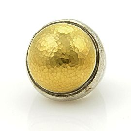 Gurhan Dome 24k Gold over Sterling Silver Hammered Ring Size 7.5
