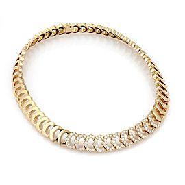 Cartier C Logo 2.75ct Diamond All Around C Link 18k Gold Necklace