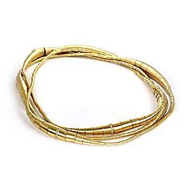 "18k Yellow Gold Diamond Long Fancy Design Tube Link Necklace 51"" -173 gr"
