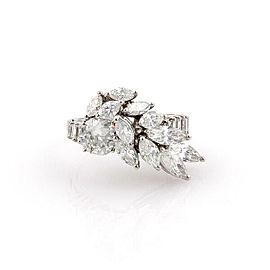 Estate Platinum 4ctw Diamond Solitaire Ring with Accent Diamonds