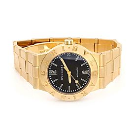 Bvlgari Diagono Automatic Date 18k Yellow Gold Men's Wrist Watch LC 29G