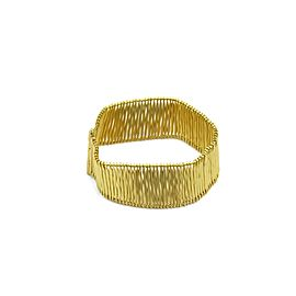 H.Stern Filament 18k Yellow Gold Wide Flexible Slide Bar Bracelet