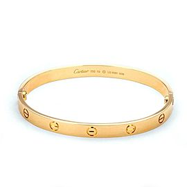Cartier Love New Style 18k Rose Gold Screw Bangle Size 19