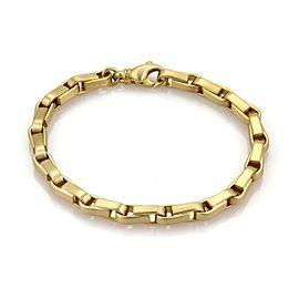"Tiffany & Co. 18k Yellow Gold Long Box Chain Link Bracelet 8.75"" Long"
