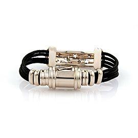 Preziosissimo Champagne Diamond 18k Rose Gold Star Stencil Bar Cord Bracelet