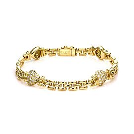 Piaget 1.20ct Diamond 18k Yellow Gold Hearts & Panther Links Bracelet