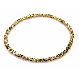 "18k Yellow Gold Fancy Woven Dome Shape Choker Necklace 69 Grams 17"""