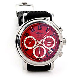 Chopard Miglia 1000 Automatic 37Jewels Steel Men's Wrist Watch Rubber Band