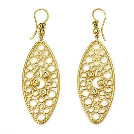 Roberto Coin Mauresque Diamond 18k Yellow Gold Long Fancy Dangle Earrings