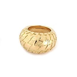 Christian Dior 18k Yellow Gold Zig Zag Design High Dome Ring Size 54-US 7
