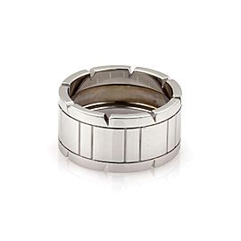 Cartier Tank Francaise 18k White Gold 11mm Band Ring Size EU 58- US 8.5