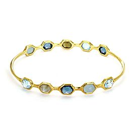 Ippolita Rock Candy Gelato Multi-Color Gems 18k Yellow Gold Bangle