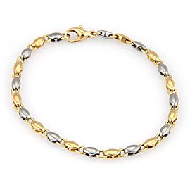 Bulgari Bulgari 18K Yellow Gold & Steel 2 Tone Oval Link Bracelet - 7.75""