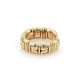 Bvlgari Bulgari Parentesi 18k Yellow Gold 7mm Wide Dome Cuff Band Ring Size 6.5