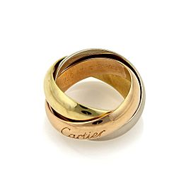 Cartier Trinity 18k Tri-Color Gold 5mm Rolling Band Ring Size EU 47-US 4