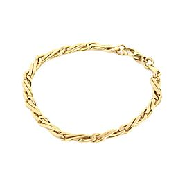 Bulgari Bulgari 18k Yellow Gold 4.5mm Wide Fancy Link Link Bracelet