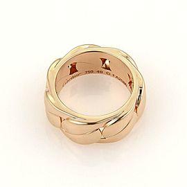 Cartier Fancy Curb Link 18k Rose Gold 8mm Band Ring Size EU 49-US 5