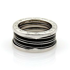 Bulgari Bulgari B Zero-1 Biselovan 18k Gold & Enamel Band Ring Size EU 55-US 7