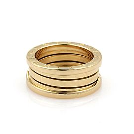 Bvlgari Bulgari B Zero-1 Wide 18k Yellow Gold Band Ring Size EU 52-US 5.75