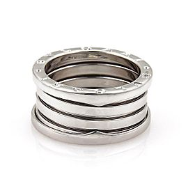 Bvlgari Bulgari B Zero-1 18k White Gold 11mm Band Ring Size EU 56-US 7.25