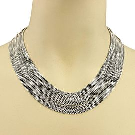 David Yurman Sterling Silver 16 Strand Box Link Chain Drape Necklace 17""