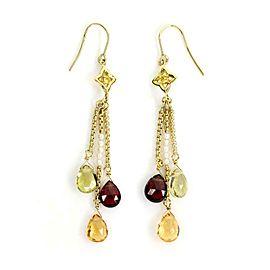 David Yurman Multicolor Gems Pearls 18k Yellow Gold Drop Dangle Earrings