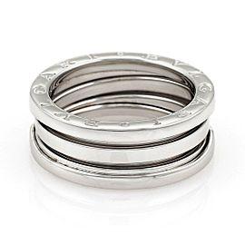 Buglari Bulgari B Zero-1 18k White Gold 8mm Band Ring Size 55-US 7