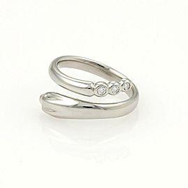 Tiffany & Co. Peretti Diamond Platinum Snake Bypass Band Ring Size - 4.25