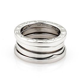Bvlgari Bulgari B Zero-1 18k White Gold 9mm Wide Band Ring Size 47-US 4