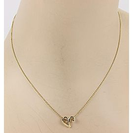 Tiffany & Co. Paloma Picasso 18K Yellow Gold Freeform Heart Pendant Necklace