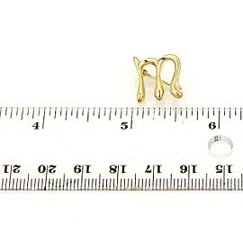 "Tiffany & Co. Elsa Peretti Initial ""M"" 18k Yellow Gold Pin Brooch"