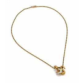 Carrera y Carrera Diamond Ruby 18k Yellow Gold Cobra Pendant Necklace