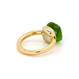 Pomellato Nudo Peridot 18k Yellow Gold Ring