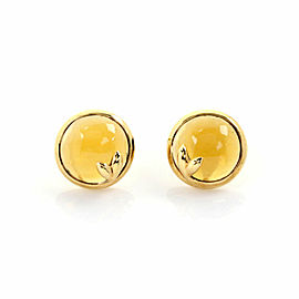 Tiffany & Co. Picasso Olive Leaf Citrine 18k Yellow Gold Stud Earrings