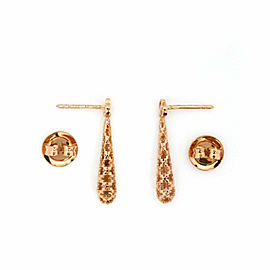 Gucci Diamantissima 18k Pink Gold Fancy Drop Dangle Earrings