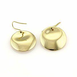 Tiffany & Co. Peretti Full Moon 18k Yellow Gold Disc Hook Dangle Earrings
