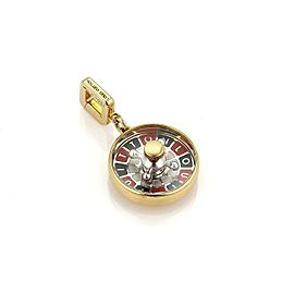Louis Vuitton 18k Yellow Gold Roulette Game Wheel Round Pendant Charm