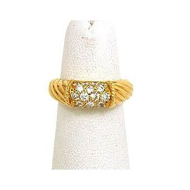 Van Cleef & Arpels Diamond 18k Yellow Gold Band Ring