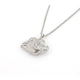 Carrera y Carrera Passion Erotic Couple 18k White Gold Pendant Necklace