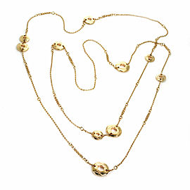 Chopard 18k Gold Chopardissimo Sautoir Disc Station Long Necklace