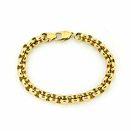 Tiourlo 18k Yellow Gold 8.5mm Rolo Link Chain Bracelet
