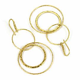 Tiffany & Co. Picasso 18k Yellow Gold 2 Tier Triple Hoops Dangle Earrings