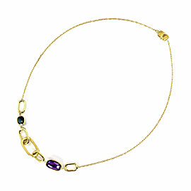 Marco Bicego Murano Gems 18k Yellow Gold Oval Link Station Chain Necklace