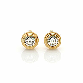 Cartier Diamante Leger de Diamond 18k Yellow Gold Stud Earrings